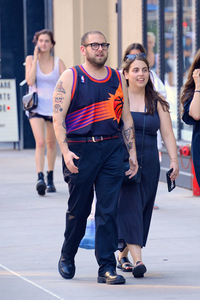 Jonah and Beanie take a casual walk on the streets of Manhattan