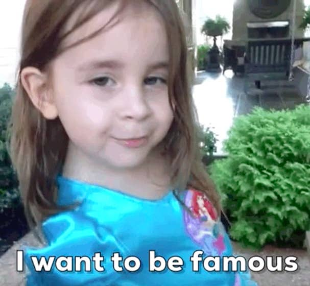 I want to be famous Vine