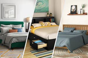 Three images of three beds that can upgrade your bedroom
