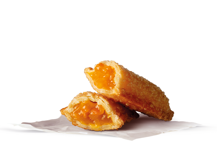 pie turnover with apricot jam