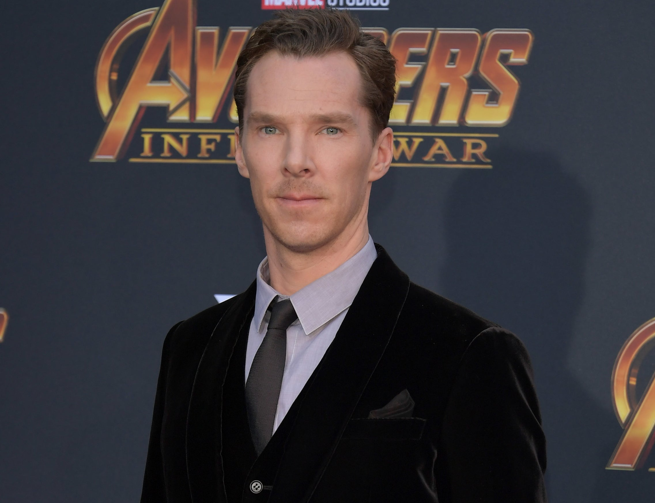 Benedict attends an Avengers premiere