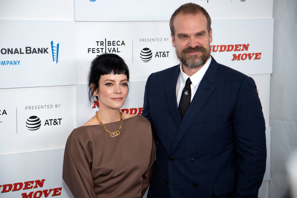Lily Allen and David Harbour attend the premiere of 'No Sudden Move'