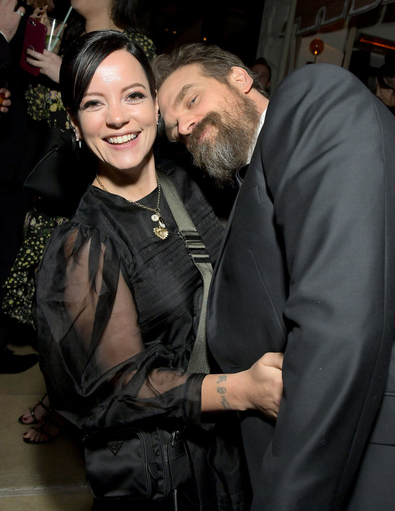 (L-R) Lily Allen and David Harbour attend 2020 Netflix SAG After Party