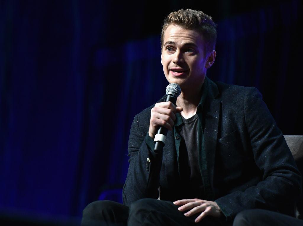 Hayden speaking at an event