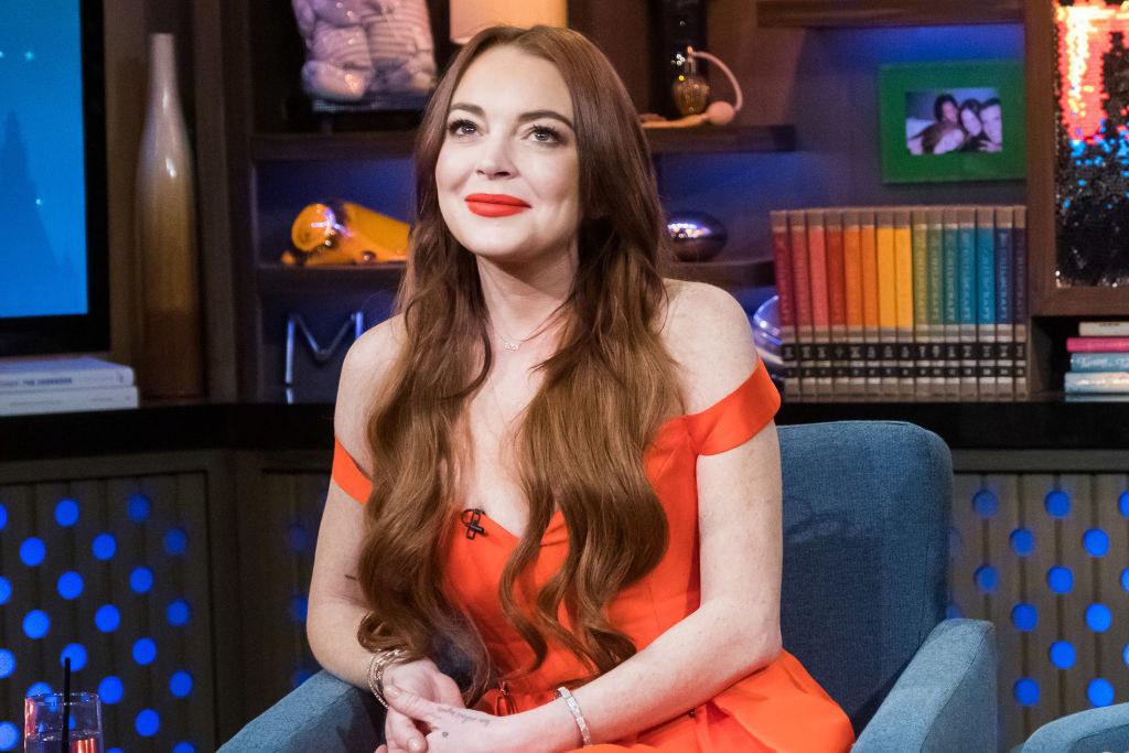 Lindsay on a talkshow