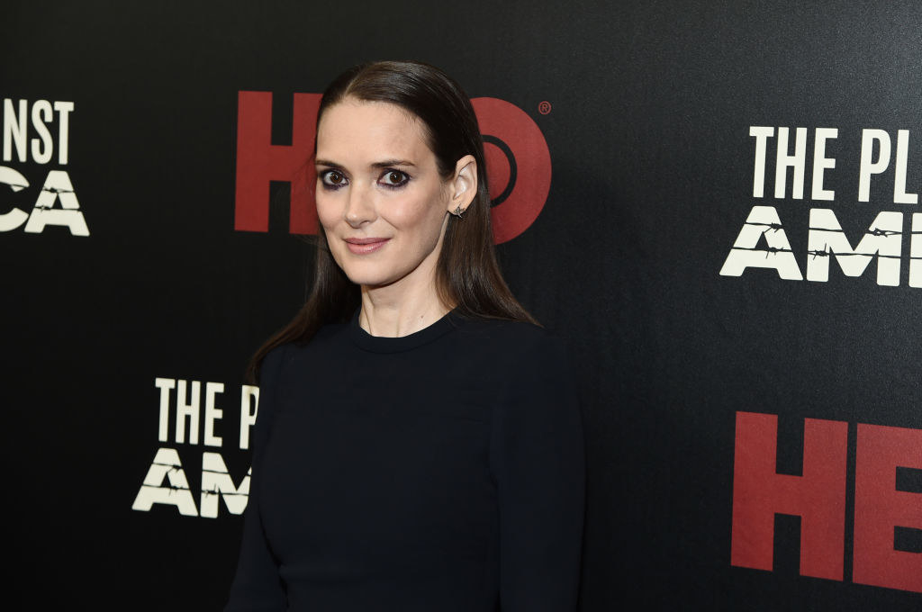 Winona on a red carpet