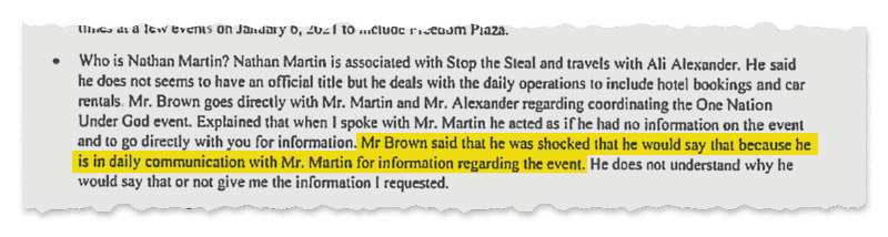 A screenshot of the text from the documents