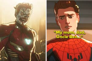 Peter Parker mentioning Uncle Ben and zombie Tony Stark