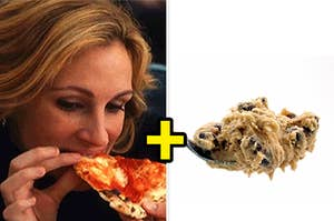 pizza and cookie dough