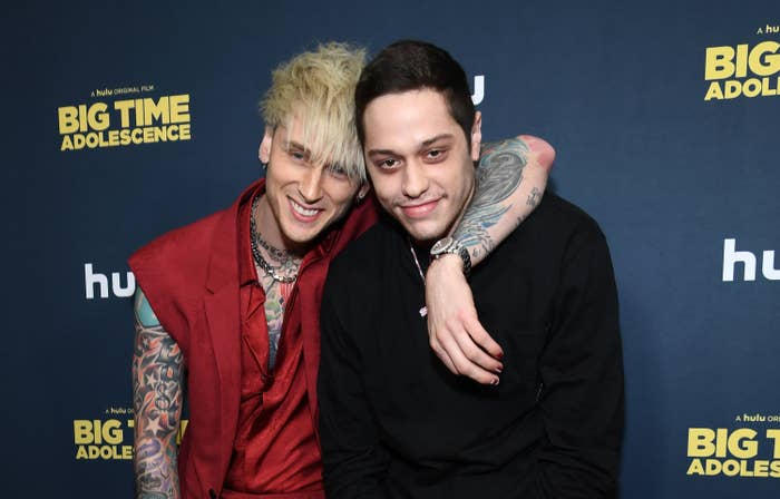 MGK and Pete on the red carpet for the premiere of Big Time Adolescence