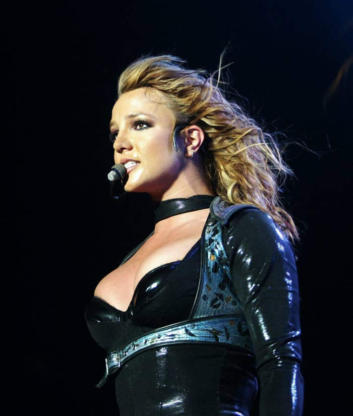 Britney performing on stage