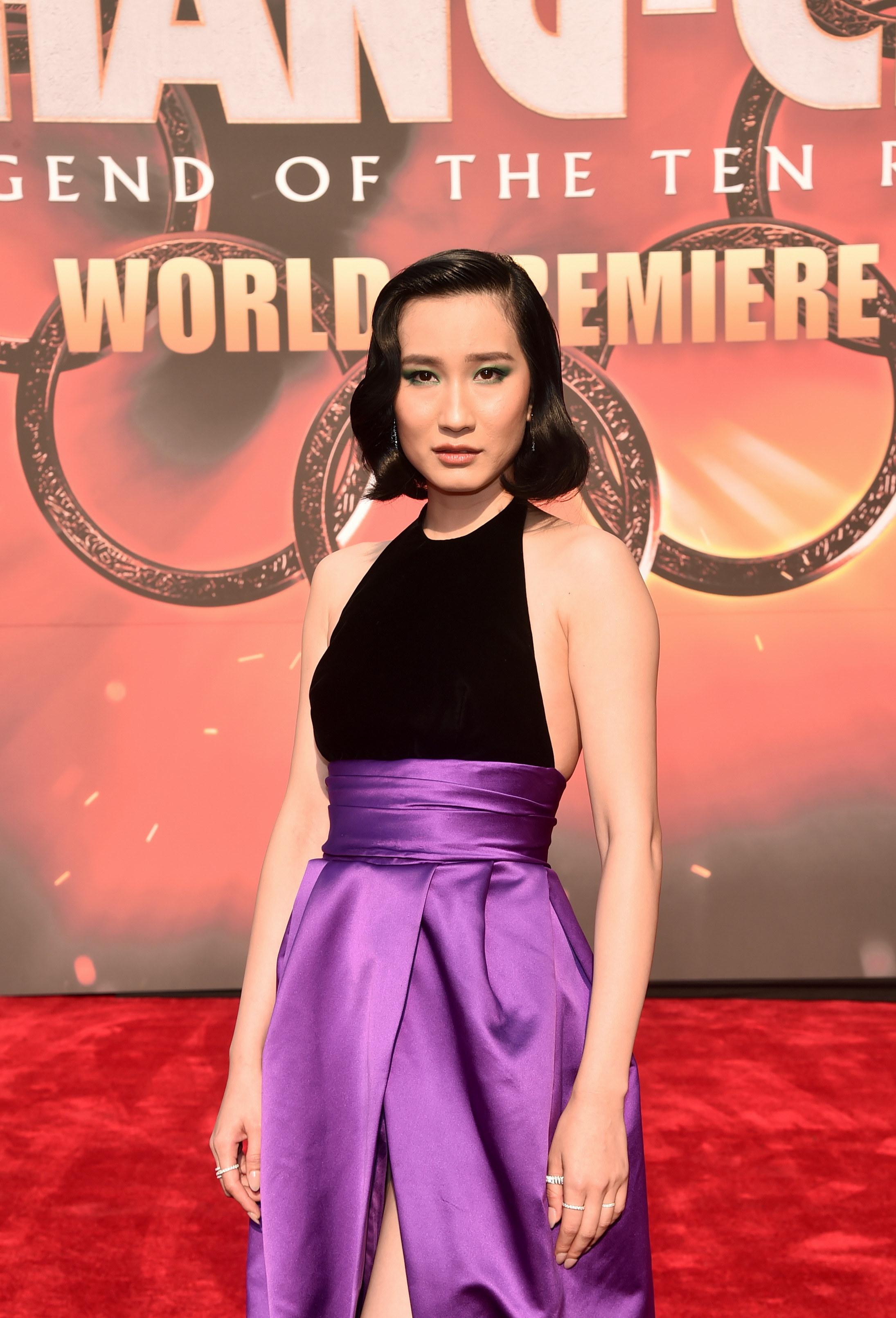 Meng'er Zhang on the red carpet