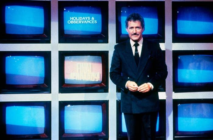 """Alex Trebek hosting """"Jeopardy!"""""""