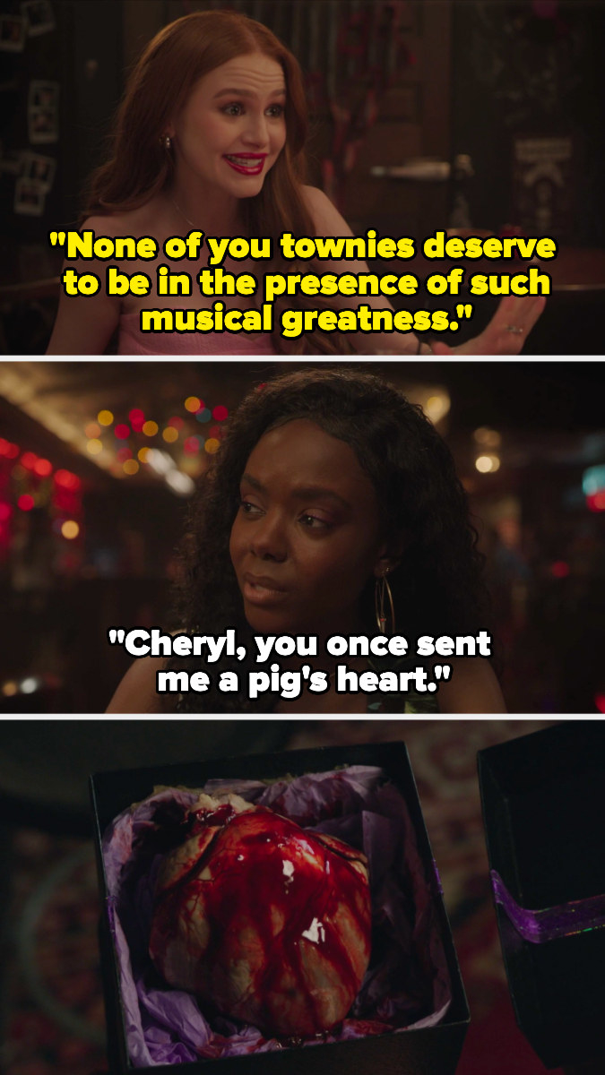 Josie reminds cheryl of the time she sent her a pig's heart