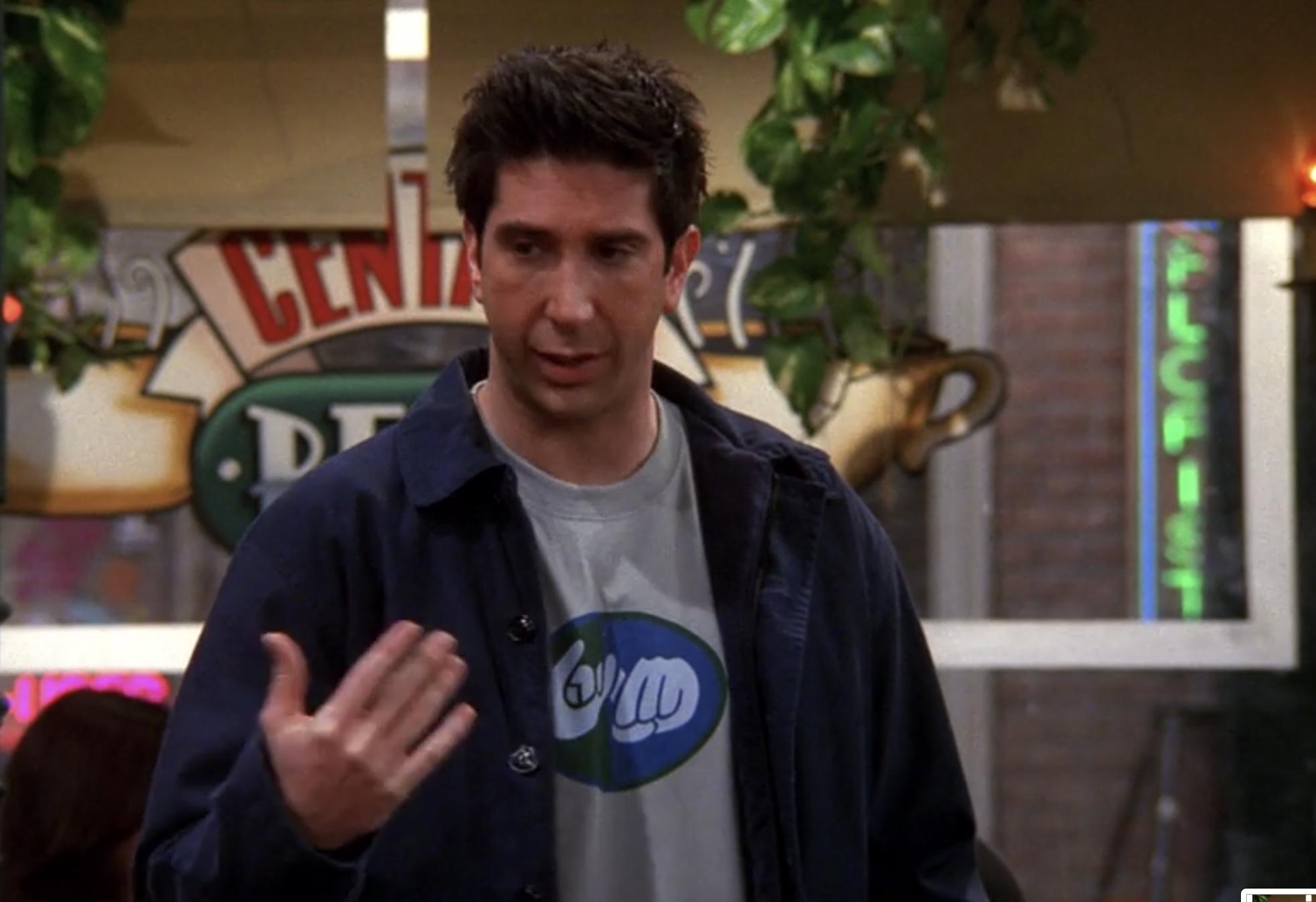 Ross in Central Perk