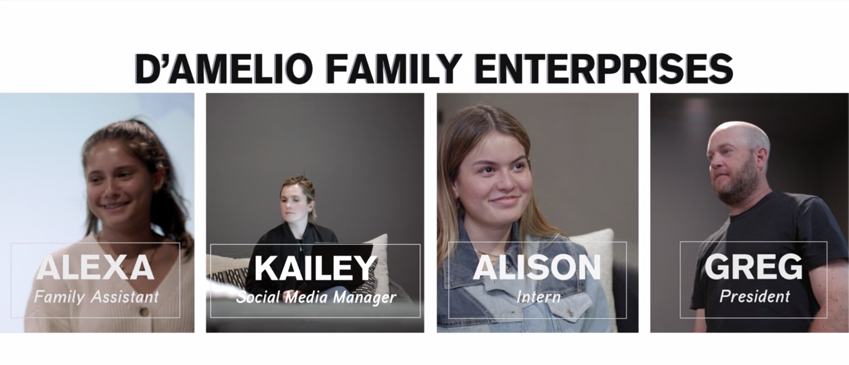 A gallery of the D'Amelio Family workers