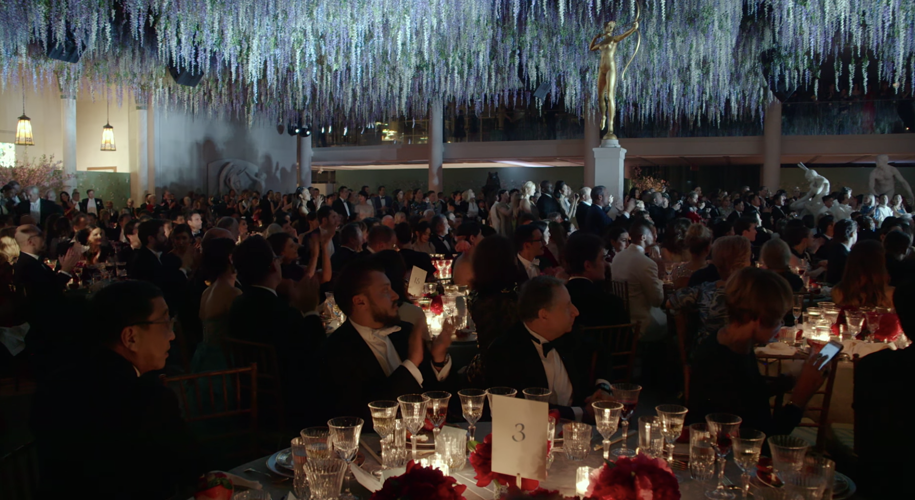 a panorama view of tables at the gala