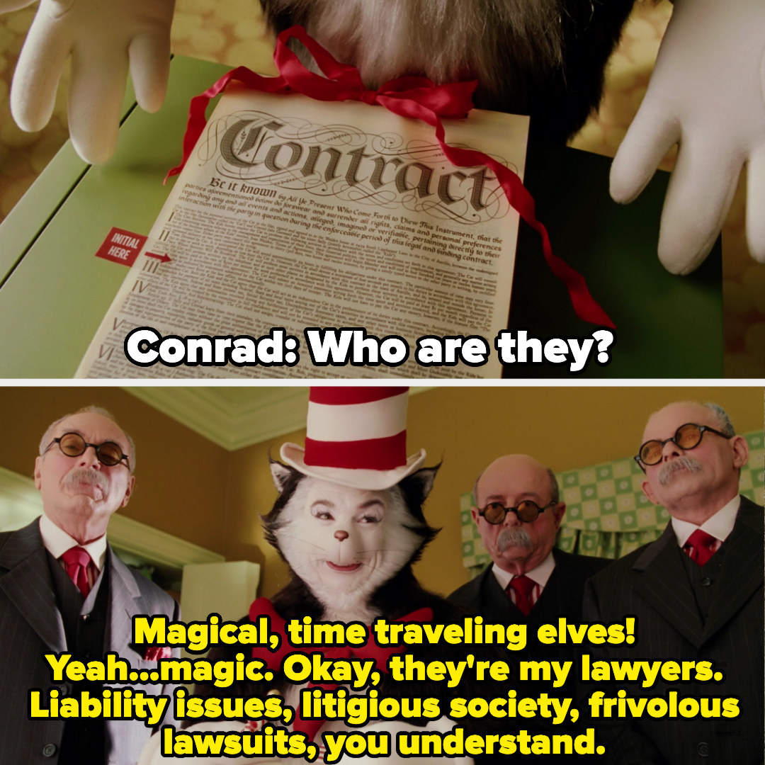 The Cat surrounded by lawyers