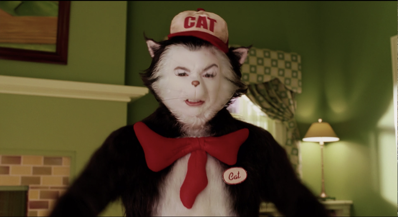 The Cat dressed as a gas station attendant