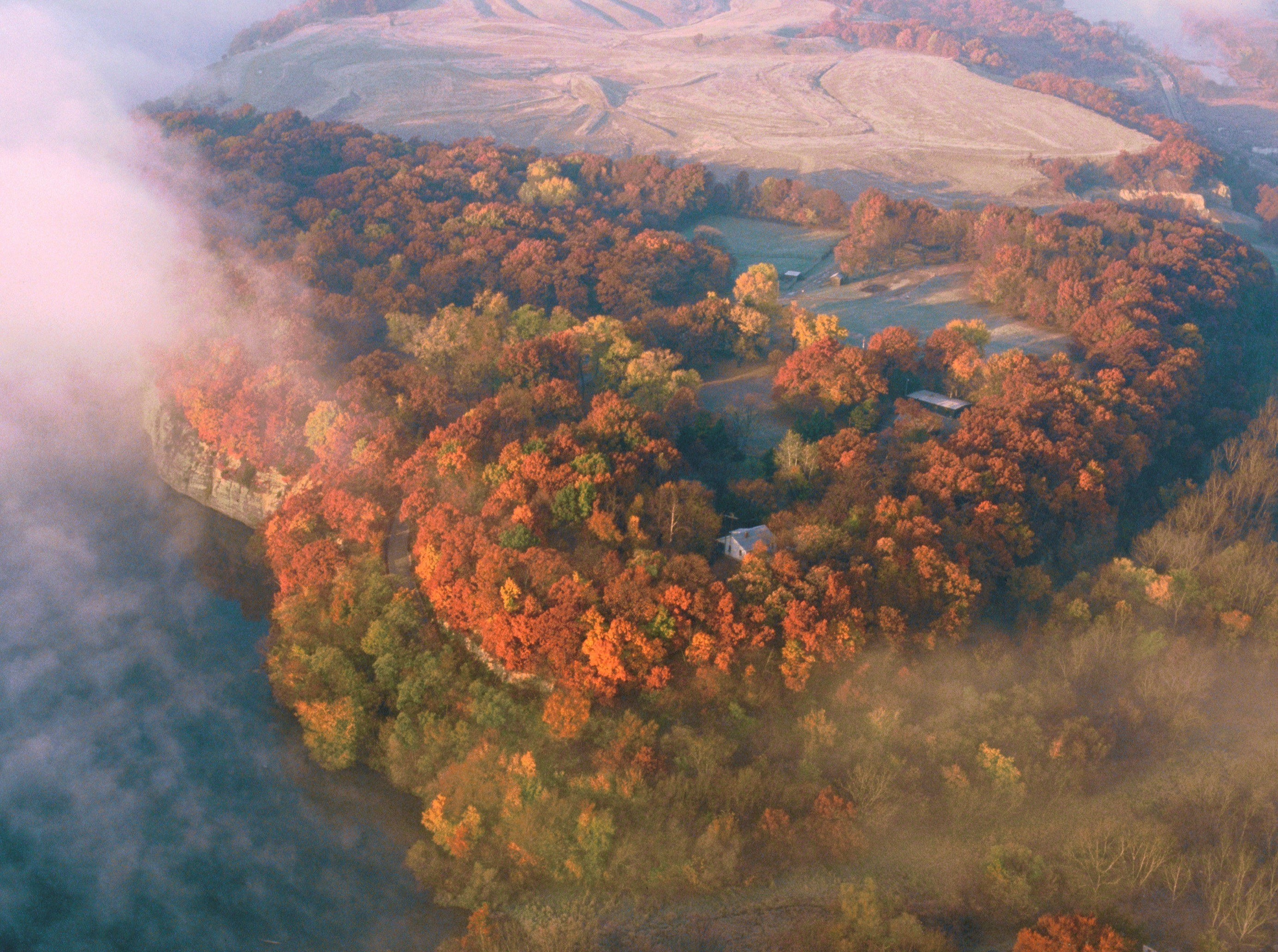 Aerial view of Buffalo Rock State Park