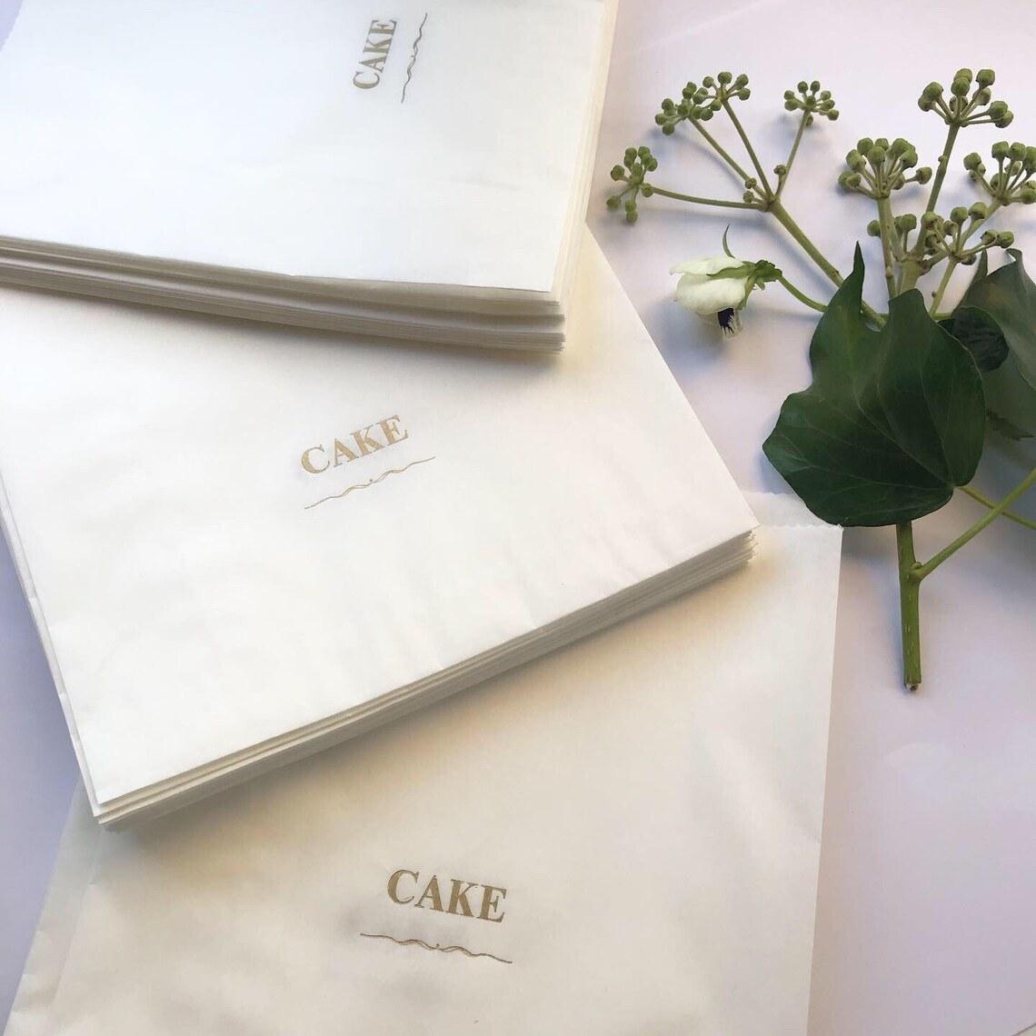 bags that say cake