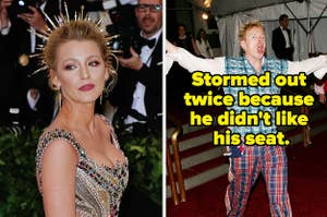 Blake Lively on the red carpet, and John Lydon stormed out twice because he didn't like where he was seated.
