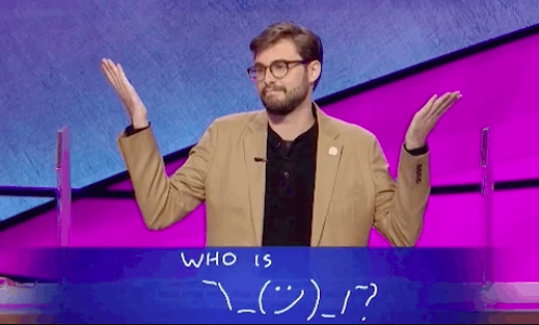 A Final Jeopardy answer that is just a drawing
