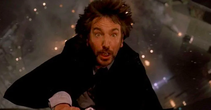 Alan Rickman looking terrified