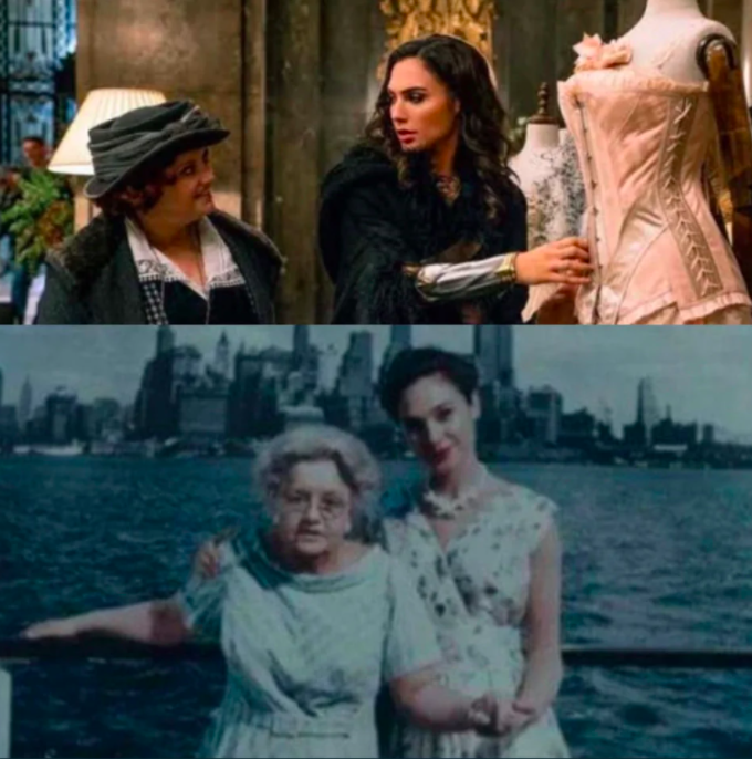Younger Etta Candy with Diana and olderEtta Candy Diana