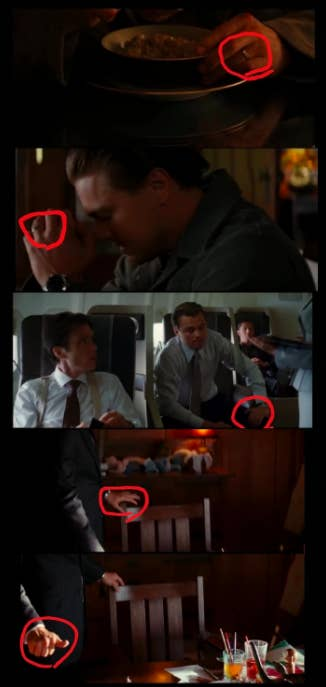 The ring is present in some scene and not others, including the finale scene