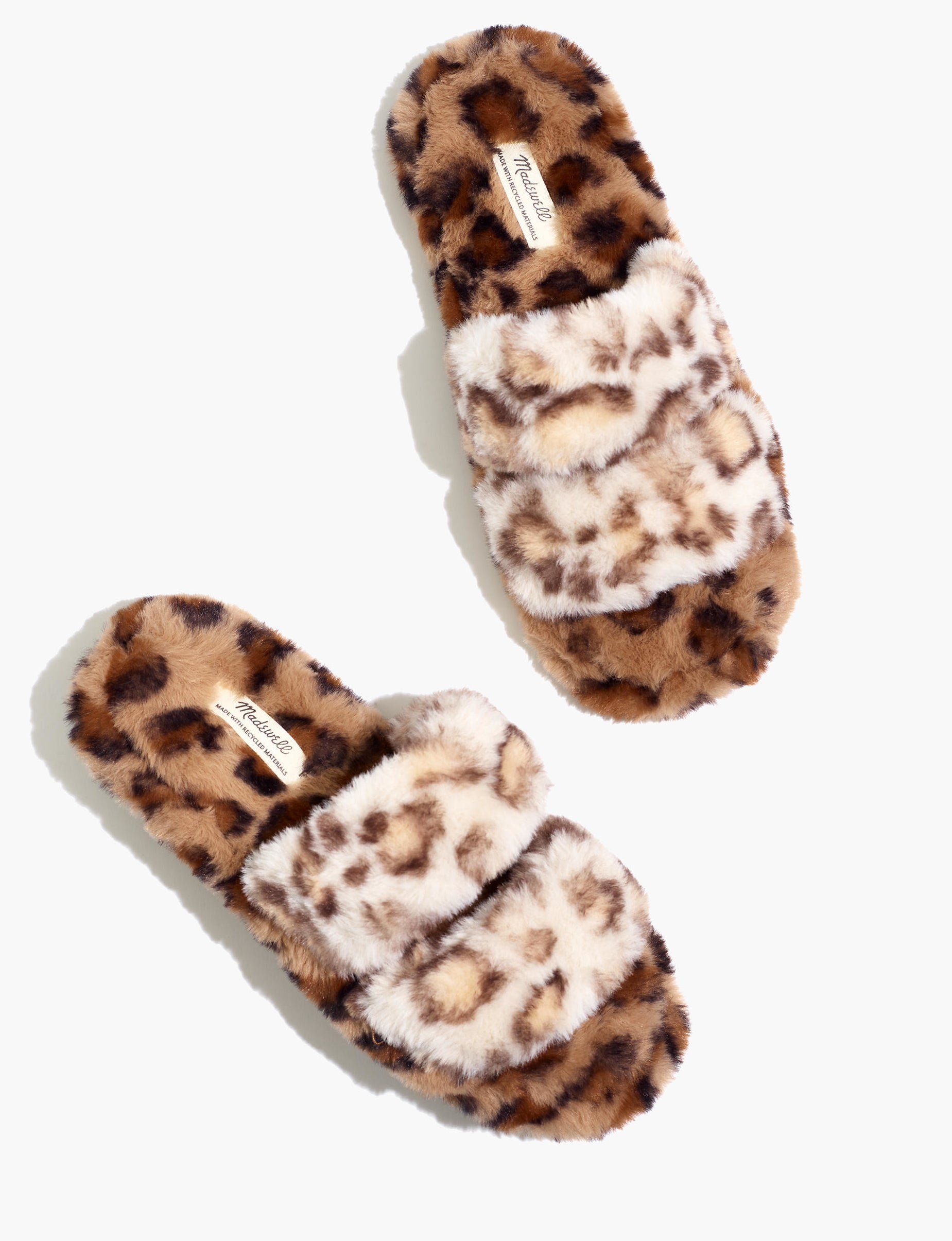 the leopard print two strap slippers