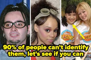 chris kirkpatrick, lisa left eye lopes, and lalaine from lizzie mguire