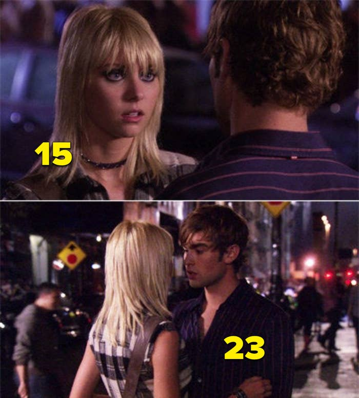 """Taylor and Chase about to kiss in a scene from """"Gossip Girl"""""""