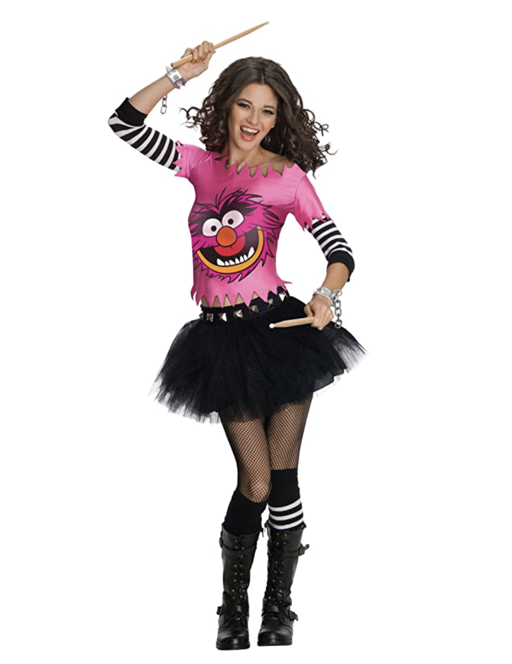 """A torn shirt with the face of Monster from """"The Muppets"""" with a short tutu"""