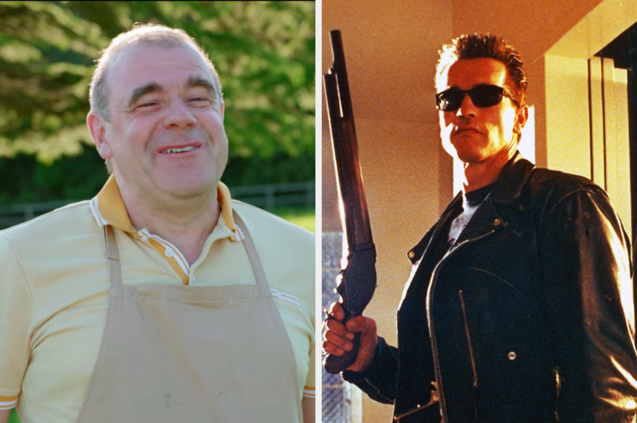 Jurgen next to the Terminator