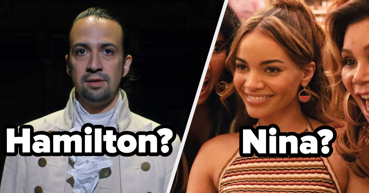 """You Are 50% A Character From """"Hamilton"""" And 50% One From """"In The Heights"""" – Find Out Which Two!"""