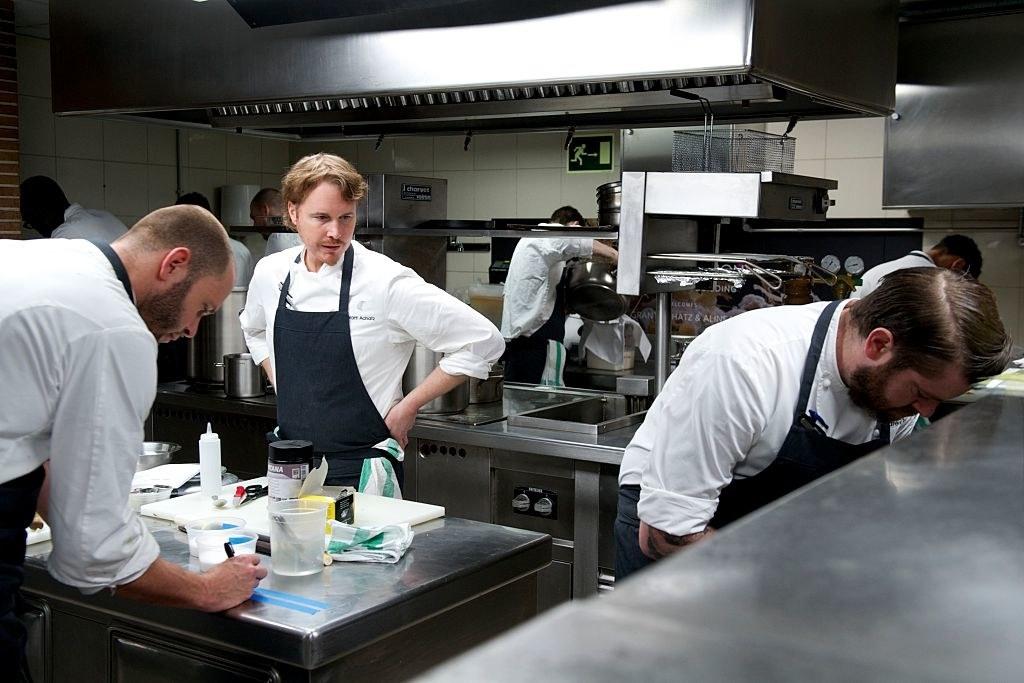 Achatz in his kitchen
