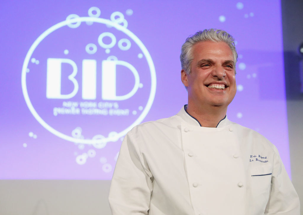 Ripert on stage during an event