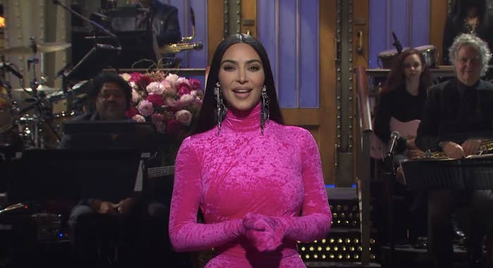 Kim during her opening monologue