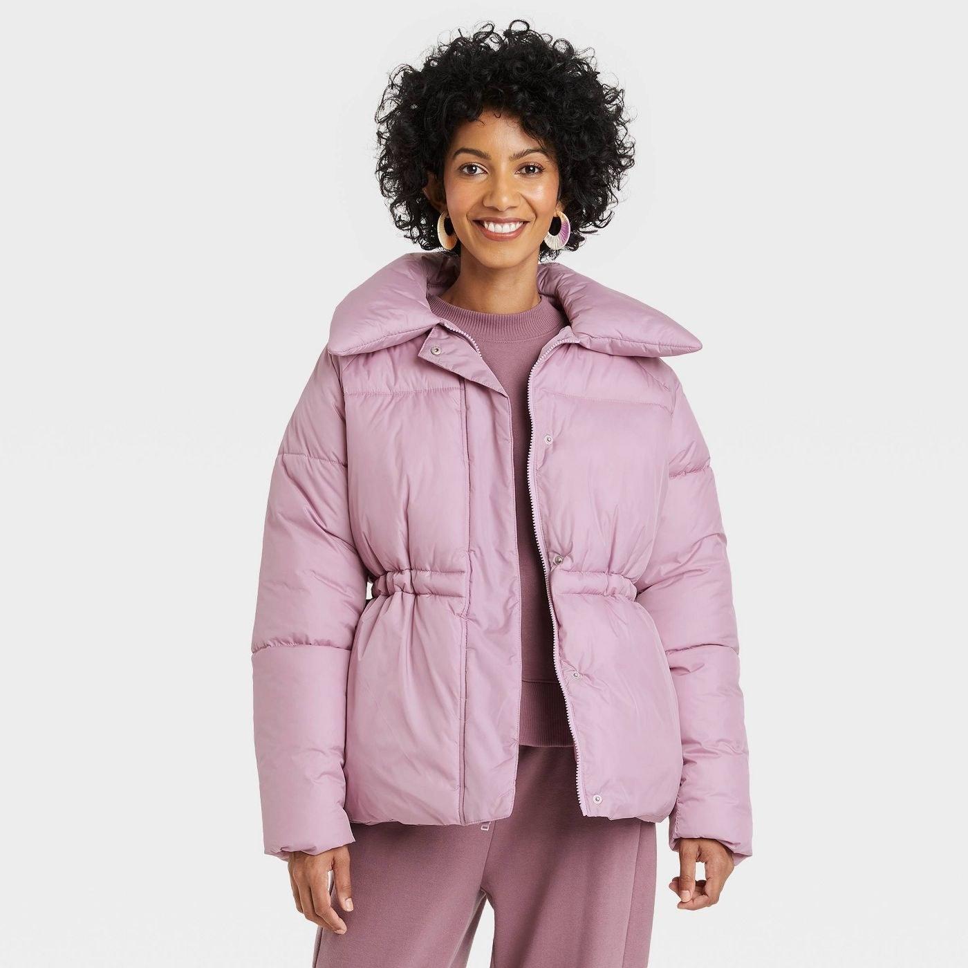 a puffer jacket
