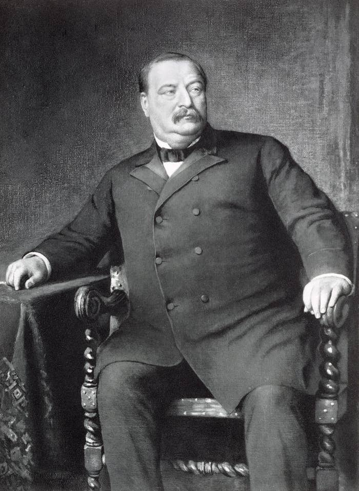 A portrait of Grover Cleveland