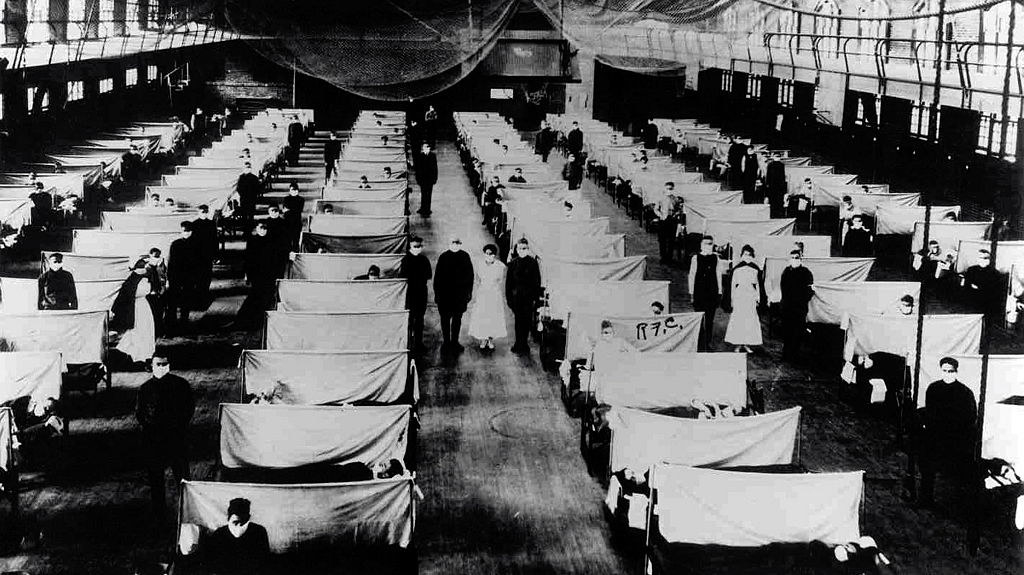 patients during the flu pandemic