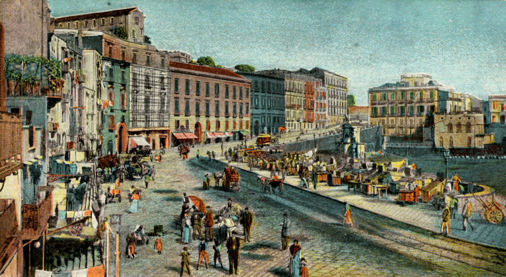 a postcard depicting Italian life in the early 20th century