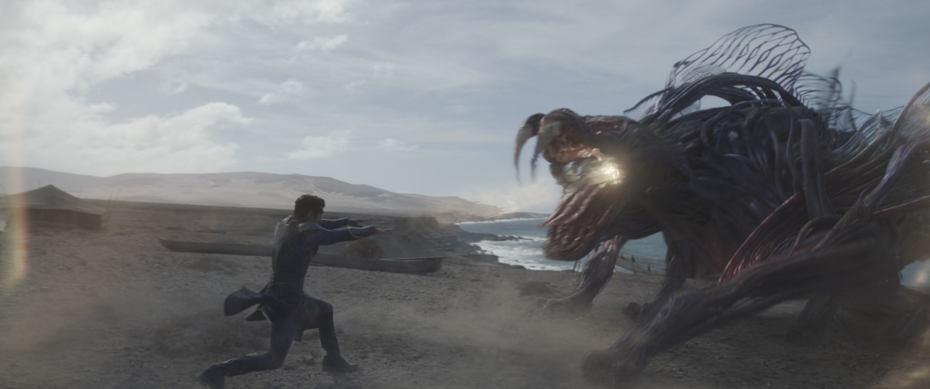 An eternal fighting a large creature