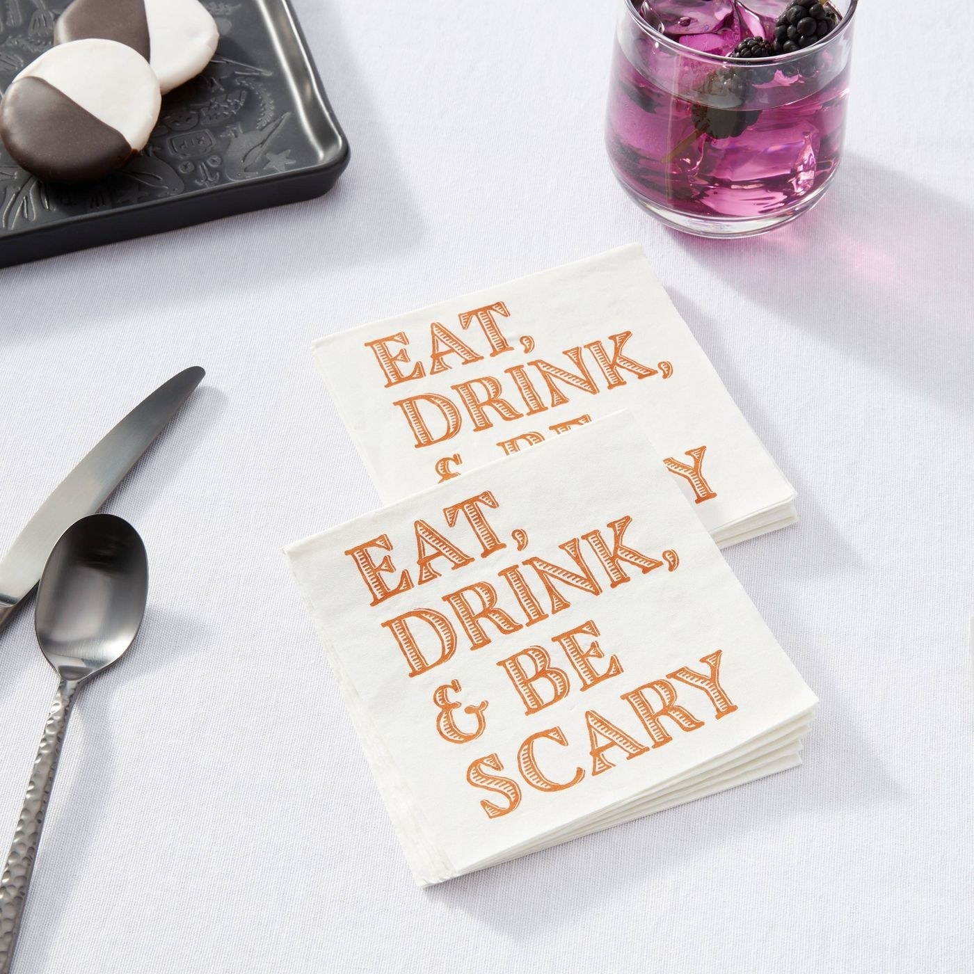 A pack of halloween napkins