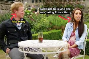 a woman who was gaslit into believing she was dating Prince Harry