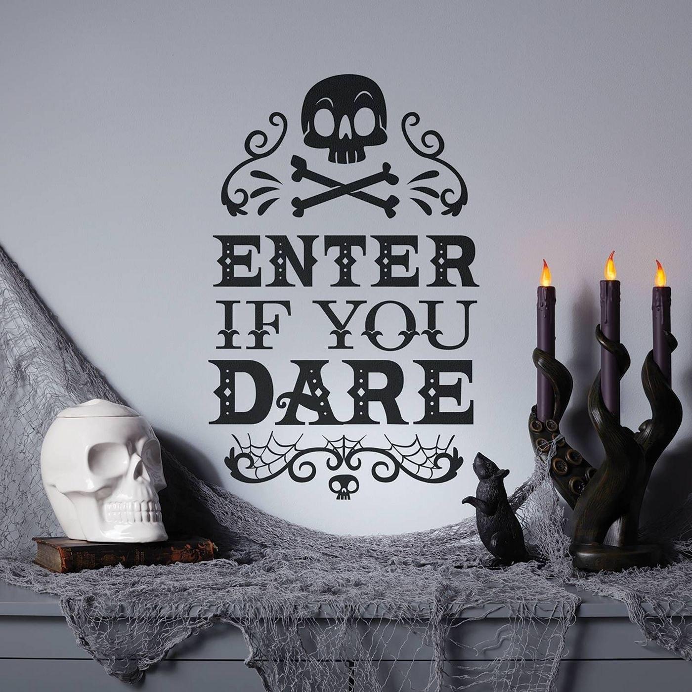 a halloween wall decal