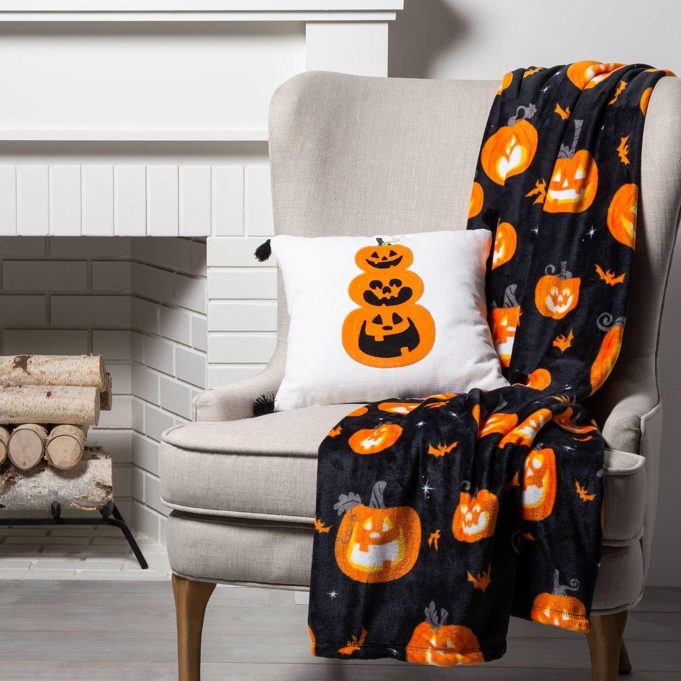 A halloween throw blanket