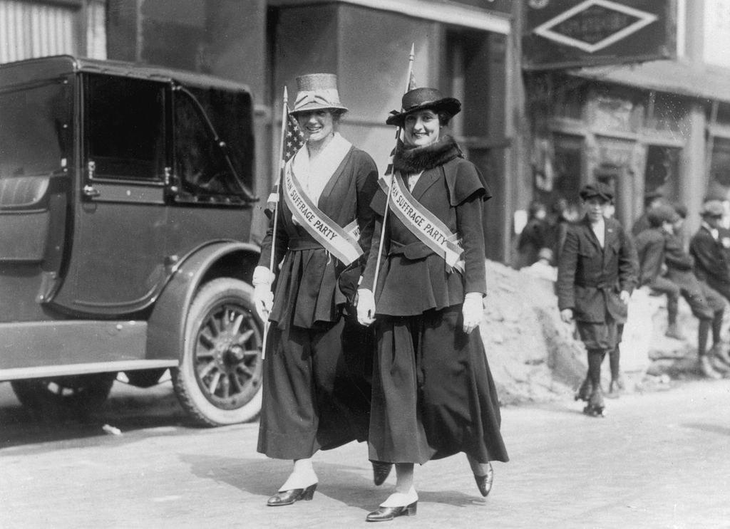 De Acosta protesting for suffrage