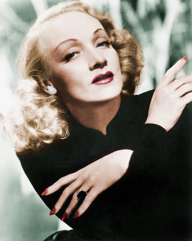 a portrait of Dietrich